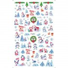 Christmas Halloween Adhesive 3d Nail Sticker Foil For Nails Art Decoration Cartoon Designs Nail Decals F691
