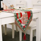 Christmas Long Table Runner Party Dinner Non-slip Cloth Home Decor  old man