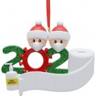 Christmas Ornament Kit DIYName Blessing Hanging Pendant Gift White family of 2