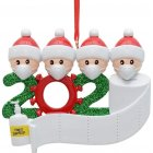 Christmas Ornament Kit DIYName Blessing Hanging Pendant Gift White family of 4