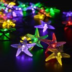 Christmas Solar Outdoor Waterproof String Lamp 30LED Starfish Color Lamps 6.5 m 30 lights - color