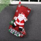 Christmas Stockings Santa Elk Snowman Lovely Gift Bag for Children Fireplace Tree Decoration Red Santa