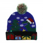 Christmas Style Knitted Hat with Pompon Decor for Kids Adults Gifts Elastic Hats dinosaur_Average size