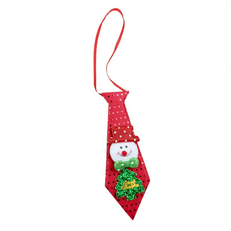 Christmas Tie LED Glow Santa Claus Snowman Elk Bear Sequins Cute Necktie for Children Adult Glow Snowman