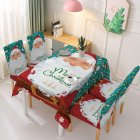 Christmas Waterproof Tablecloth Chair Cover Dining Room Stretch Chair Covers Tablecloth 140 180cm