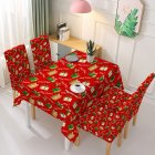 Christmas Waterproof Tablecloth Chair Cover Dining Room Stretch Chair Covers Tablecloth 140 210cm
