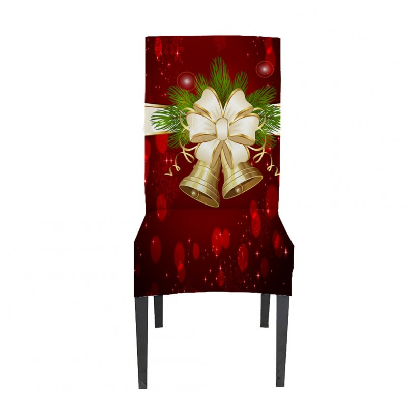 Christmas Waterproof Tablecloth/Chair Cover Dining Room Stretch Chair Covers Chair cover 1PC