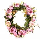 Classic Artificial Simulation Flowers Garland for Home Room Garden Lintel Decoration,Roses Peonies