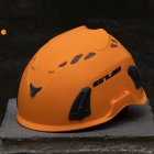 Climbing Helmet Professional Mountaineer Rock MTB Helmet Safety Protect Outdoor Camping Hiking Riding Helmet Orange (56cm-62cm)
