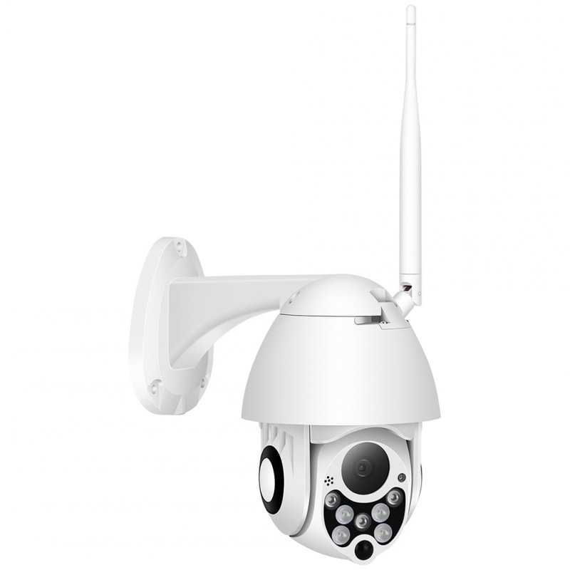 Cloud Storage Wireless PTZ IP Camera 4X Digital Zoom Speed Dome Camera Outdoor CCTV Surveillance 1080P with 64G memory card (European Standard)