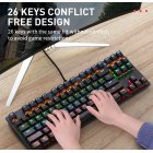 Computer Keyboard Colorful 87-key Gaming Keyboard Office Mechanical Keyboard black