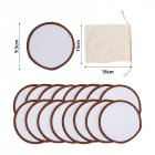 Cosmetic Pad Washable Bamboo Fiber Pure Cotton Makeup Reusable Makeup Remover Pad Mesh bag + 16 pieces of makeup remover pad