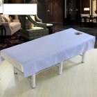 Cotton Fashion Beauty Salon Body Spa Massage Table Cloth Bed Cover Sheet with Face Hole Pure Color Violet_80 * 190cm