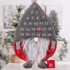 Creative Calendar Forest Old Man Christmas Ornaments Wall Party Pendant Decorations  Gray