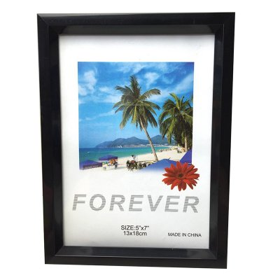 Creative Simple 7 inch Room Office Decor Plastic Picture Photo Wall Frame Stylish Colorful Photo Pendulum Black_7 inch