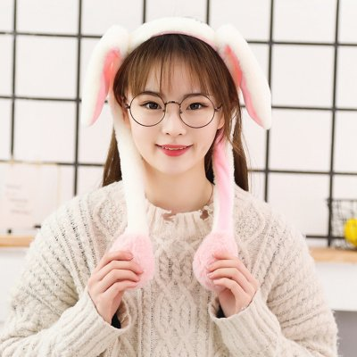 Cute Animal Shape Hair Clasp Moving Lighting Ears by Pressing Hair Band rabbit