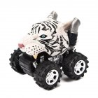 Cute Animal Shape Model Mini Pull Back Car Vehicle Toy Early Educational Toy Perfect Gift White tiger