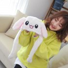 Cute Cartoon Dance Ears Rabbit Winter Warm Beanie Hat   White