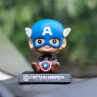 Cute Cartoon Shaking Heads Decoration Resin Decoration for Car Crafts Y-Captain America_8*9*13 color box with car stickers
