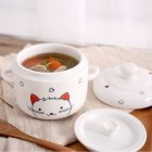 Cute Ceramics Stew with Two Ears Microwave Oven Pressure Cooker Available for Kitchen Cooking small