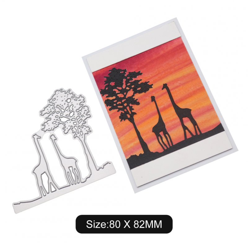 Cute Giraffe Pattern DIY Etching Carbon Steel Cutting Dies for Scrapbook 2100188