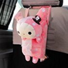 Cute Soft Pink Plush Master Rabbit Tissue Box Cover Car Accessories Home Decor