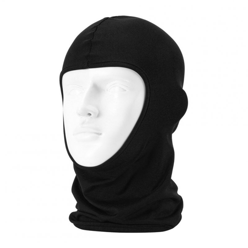 Cycling Mask Helmet Inner Liner Mask Dust Hood Multi-functional Head Cover black_One size