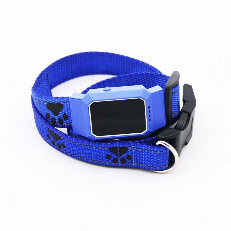 D35 Pet GPS GSM Tracker Dog Cat Real-time Tracking Collar Security Finder Locator blue