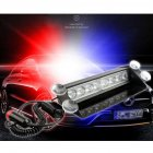 DC12V 8 LED Car Strobe Flash Light auto LED Emergency Warning lamp 3 Flashing Fog Lights Red blue
