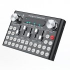 DC5V 1A K Song Studio Audio Mixer Microphone Webcast Entertainment Streamer Live Sound Card for Phone Computer PC black