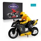 DG-801 1/6  Self-Balancing RC Motorcycle 6 axis of gyroscope Stunt Racing Motorcycle Plastic Mini Motorcycle Toy yellow