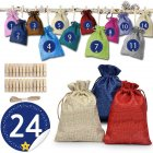 DIY Advent Calendar Filling Gift Bags 1-24 Advent Numbers Sticker for Christmas 24 colors_10*14CM