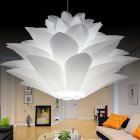 DIY Lotus Chandelier Lampshade Beautiful Decoration Romantic Lighting Cover  white_Single head 35CM