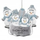 DIY Snowman Hanging Ornament Pendant for Family Blessings Christmas Tree Decor Four snowmen