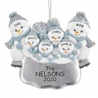 DIY Snowman Hanging Ornament Pendant for Family Blessings Christmas Tree Decor Six snowmen