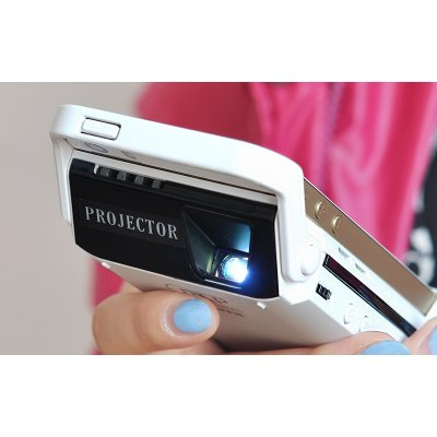 Dlp video projector for iphone 6 6s ibeam 60 inch for Movie projector for iphone 6