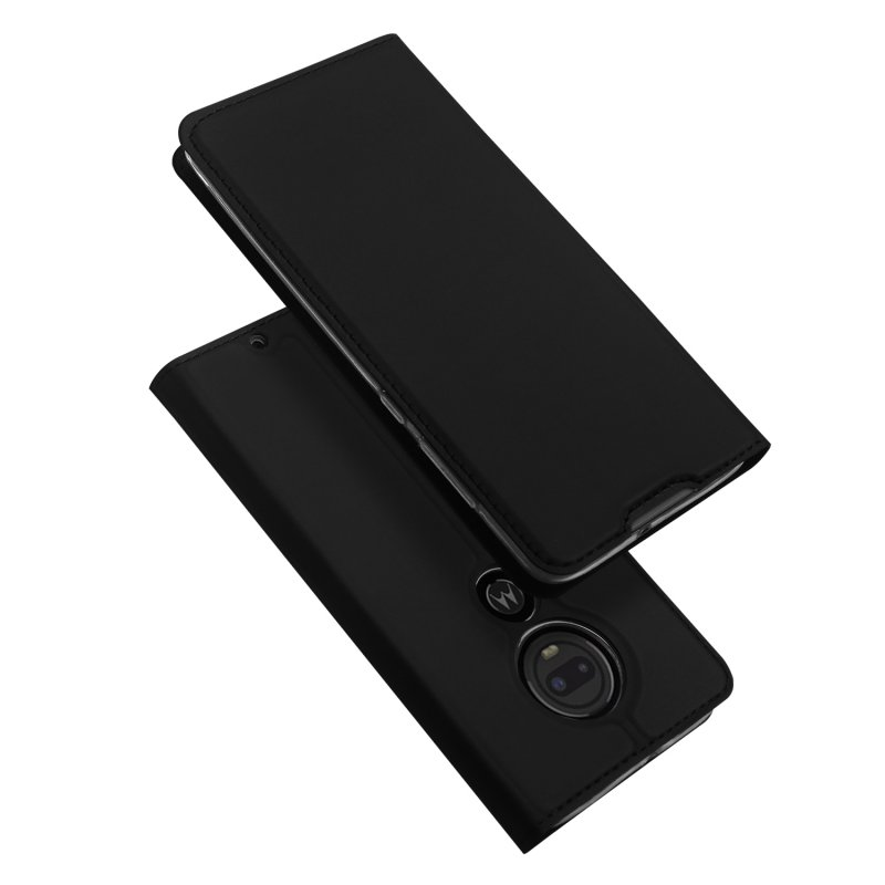 DUX DUCIS for MOTO G7 Magnetic Attraction Shockproof Full Protective Case with Bracket Card Slot black_MOTO G7