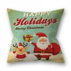 Decorative Polyester Peach Skin Christmas Series Printing Throw Pillow Cover 4  45 45cm