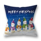 Decorative Polyester Peach Skin Christmas Series Printing Throw Pillow Cover 15#_45*45cm