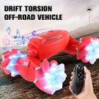 Deformation Off-Road Vehicle Stunt Torsion RC Car Racing 2.4 G Rechargeable Battery Children RC Toys red