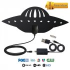 Digital Antenna TV HDTV 200 Miles Long Range HQ HDTV Indoor Antena Freeview HD black