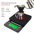 Digital Display Manual Coffee Scale Electronic Timing Kitchen Cake Mini Baking Scale Kitchen Cooking Electronic Scale FFF3541
