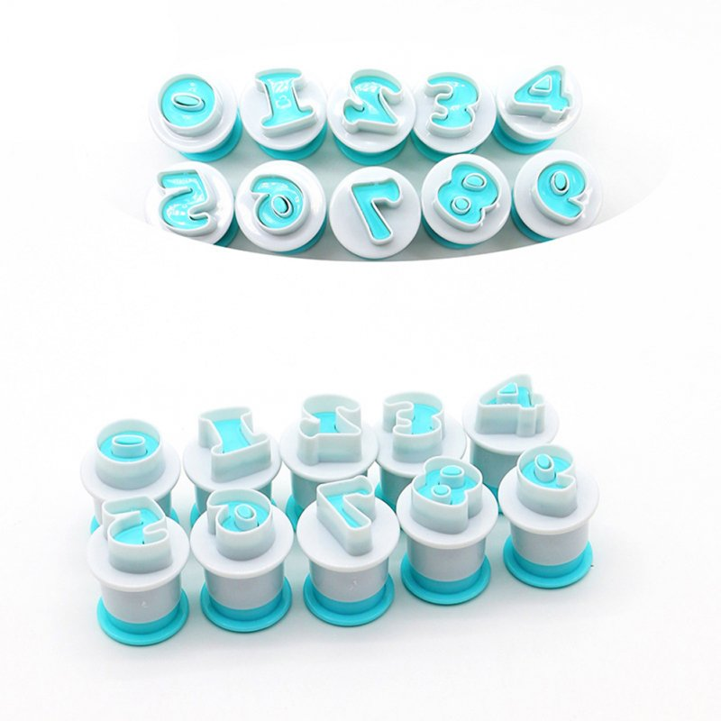 Digital Fondant Stamp DIY Mould Cake Cookie Baking Tools Number 0-9