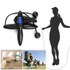 Digital Skipping Rope Professional Gym Fitness Equipment Burning Calorie black