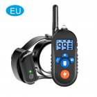 Dog Training Device Barking Stopper Electric Shock Vibration Warning Electric Collar Anti Barking Device EU plug