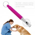 Dog Training Obedience Whistle for Pet Metal Ultrasonic Dog Flute purple