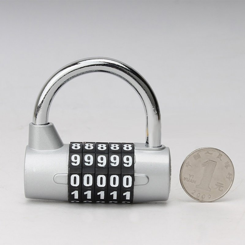 Door Cabinet Password Lock Five-digit Password Locker Locker Cabinet Door Lock silver