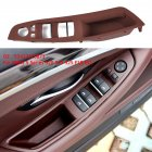 Door Handle Window Switch Panel for BMW 5 Series F10 F18 520 523 525(Beige) brown