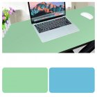 Double Sided Desk Mousepad Extended Waterproof Microfiber Gaming Keyboard Mouse Pad for Office Home School Light green + lake blue_Size: 120x60
