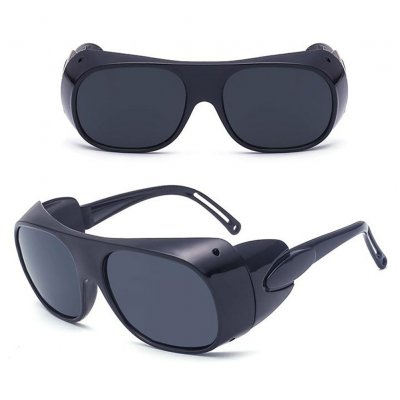 Driving Sunglasses Glasses Lens Windproof Sunscreen Googles for Cycling Outdoor Sports Black frame gray lens